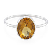 Anello in argento con Quarzo Cognac (MONOSONO COLLECTION)
