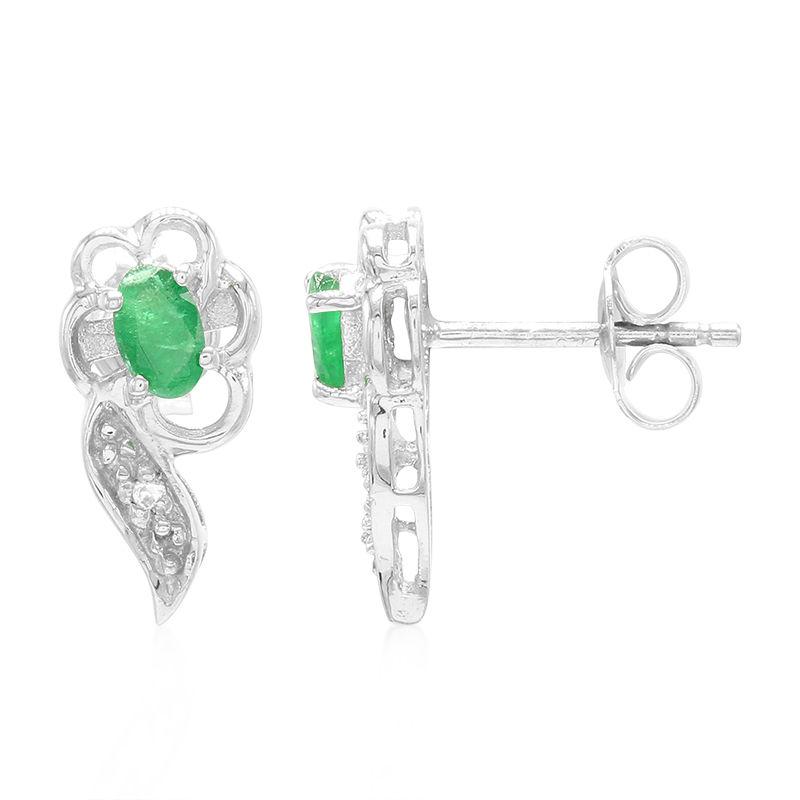 b02921f467 Orecchini in argento con Smeraldo Bahia (Cavill)-8726EI   Gioielli ...