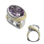 Anello in argento con Ametista Zambiana (Dallas Prince Designs)