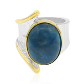 Anello in argento con Apatite Blu Neon (MONOSONO COLLECTION)