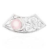 Ciondolo in argento con Quarzo Rosa (MONOSONO COLLECTION)