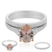 Anello in oro con Morganite AAA