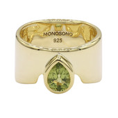 Anello in argento con Peridoto (MONOSONO COLLECTION)