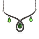 Collana in argento con Diopside Russo (Memories by Vincent)