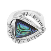 Anello in argento con Conchiglia Abalone (MONOSONO COLLECTION)
