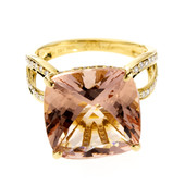 Anello in oro con Morganite Brasiliana (de Melo)