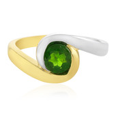 Anello in argento con Diopside Russo (MONOSONO COLLECTION)