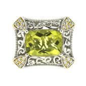 Anello in argento con Quarzo Ouro Verde (Dallas Prince Designs)