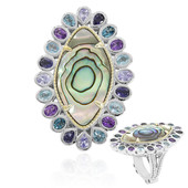 Anello in argento con Conchiglia Abalone (Dallas Prince Designs)