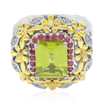 Anello in argento con Peridoto (Dallas Prince Designs)