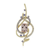 Ciondolo in oro con Morganite (Adela Gold)