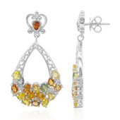 Orecchini in argento con Zaffiro Fancy (Dallas Prince Designs)