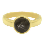 Anello in argento con Zaffiro Stellato Nero (MONOSONO COLLECTION)