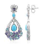 Orecchini in argento con Turchese Sleeping Beauty (Dallas Prince Designs)