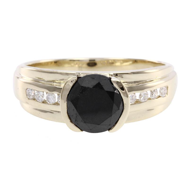 ottimi prezzi bello e affascinante prezzo di fabbrica Anello da uomo in oro con Diamante Nero-2234PG | Gioielli Juwelo