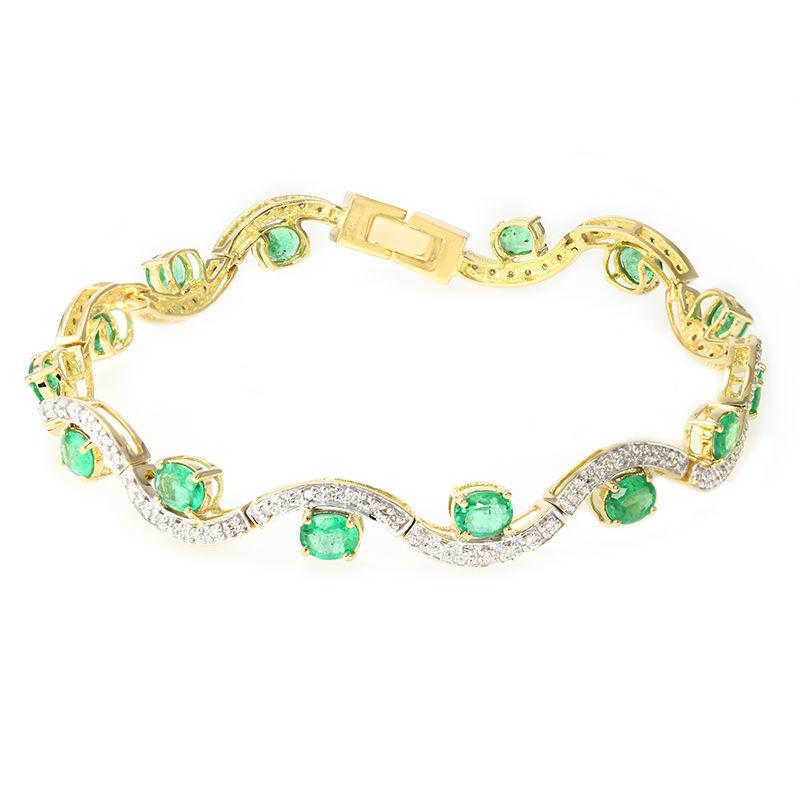 nuove varietà grande vendita Più affidabile Bracciale in oro con Smeraldo Nova Era-1181XA   Gioielli Juwelo