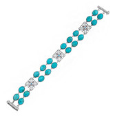 Bracciale in argento con Turchese Kingman Blu Mohave (Dallas Prince Designs)
