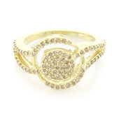 Anello in oro con Diamante Champagne