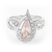 Anello in argento con Morganite Nigeriana
