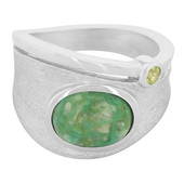 Anello in argento con Crisocolla (MONOSONO COLLECTION)
