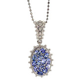 Collana in argento con Tanzanite (Dallas Prince Designs)