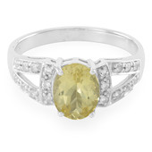 Anello in argento con Apatite Lemon