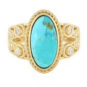 Anello in argento con Turchese Kingman Blu Mohave (Memories by Vincent)