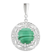 Ciondolo in argento con Malachite