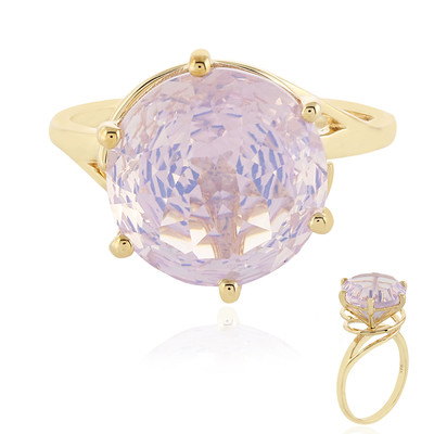 Anello in oro con Quarzo Lavanda (PHANTASIA)