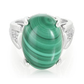 Anello in argento con Malachite
