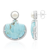 Orecchini in argento con Turchese Kingman Blu Mohave (Dallas Prince Designs)
