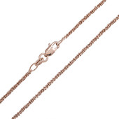 Catenina Criss Cross in argento 925 placcato oro rosa - 45 cm - 3,6 g
