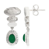 Orecchini in argento con Calcedonio Verde (MONOSONO COLLECTION)