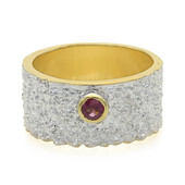 Anello in argento con Rodolite Rajasthan (MONOSONO COLLECTION)