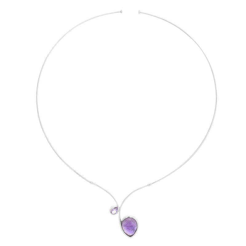 b19c6ce34a Collana girocollo in argento con Ametista-1552GA | Gioielli Juwelo
