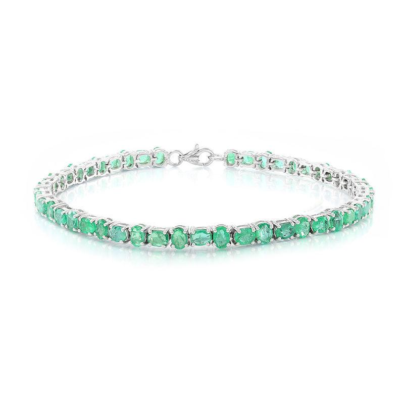 sconto prima i clienti rivenditore di vendita Bracciale in argento con Smeraldo Zambia