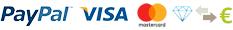 PayPal, Visa, MasterCard, Contrassegno