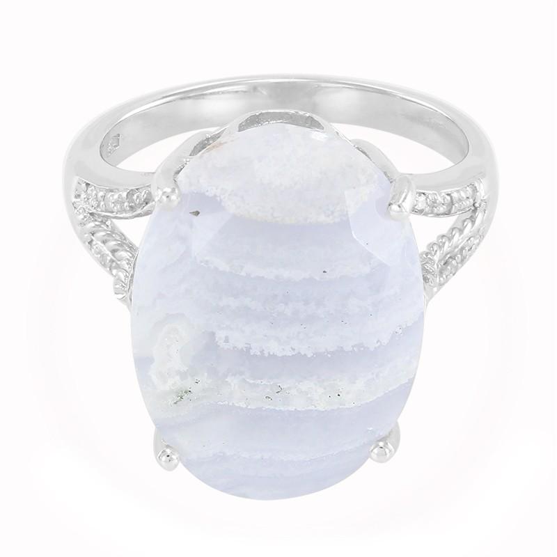 anello con agata blue lace