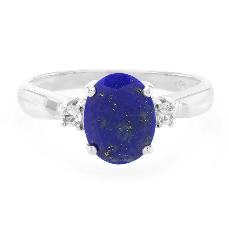 anello in argento con lapislazzuli