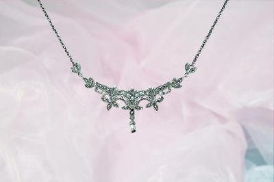 collana in argento con perle