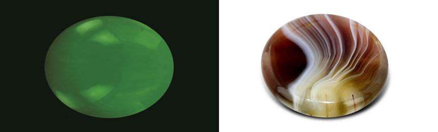 Due gemme criptocristalline opache: la Giada e l'Agata