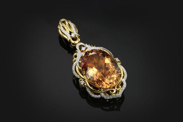 gioiello in oro con morganite juwelo