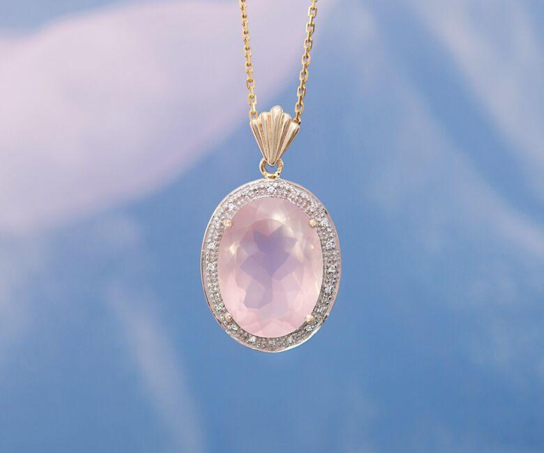 gioiello con quarzo rosa